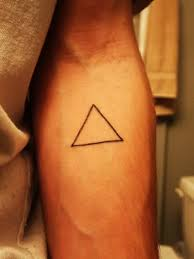 simple black triangle small tattoo tattoo wf