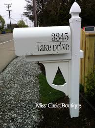 mailbox decal custom vinyl mailbox address numbers with street