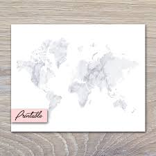 World Map Printable by White Marble World Map Printable