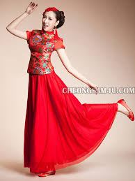 Chinese Wedding Dress Fengxian Improved Chinese Cheongsam Qipao Wedding Dress