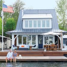 Home Cottage by Tour This Sunny Floating Cottage Coastal Living