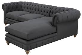 Chesterfield Sectional Sofa Chesterfield Linen Sectional Sofa Free Shipping Across Usa