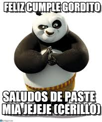 feliz cumple gordito kung fu panda meme on memegen