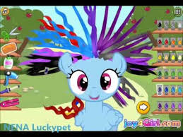 design hair game play little pony hair salon game video for kids my little pony game