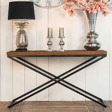 Industrial Console Table Reclaimed Wood Furniture Industrial Console Table Modish Living
