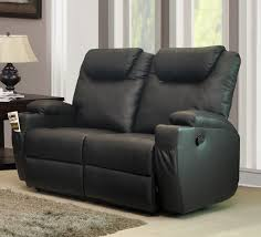 Lazy Boy Loveseat Dark Gray Faux Leather Lazy Loveseat With Recliner And Pillow Top