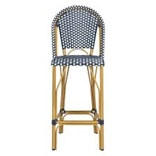 Safavieh Bistro Chairs Safavieh Ford Indoor Outdoor Stacking French Bistro Bar Stool