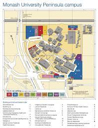 University Of Miami Campus Map by Monash Peninsula Map Monash University Campus Map Australia