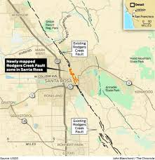 Usgs Earthquake Map California Usgs Finds Long Obscured Earthquake Fault In Downtown Santa Rosa