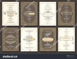 monogram creative card template flourishes ornament stock vector