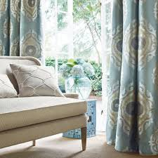 Suzani Curtain Curtain Fabric Patterned Polyester Silk Rue De Seine