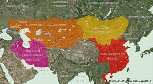 map of be of central asia ad 550 600