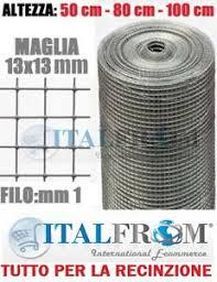 rete metallica per gabbie 25mt rotolo rete metallica zincata elettrosaldata12x12 recinzione