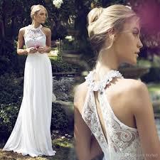 discount halter a line chiffon wedding dresses 2017 sleeveless