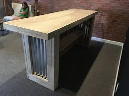 Metal Reception Desk The Counter Sr 8 Foot Corrugated Metal Bar Sales Counter