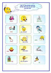 english teaching worksheets can can t