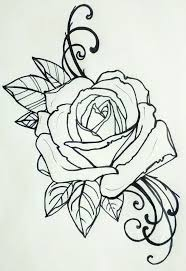 design flower rose drawing i m thinking this on my shoulder roses pinterest rose nice
