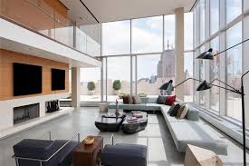 Tribeca Apartment Modern Full Glass Skyloft Penthouse In Tribeca Caandesign