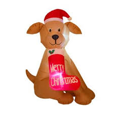 lighted dog christmas lawn ornament outdoor christmas decorations you ll love wayfair