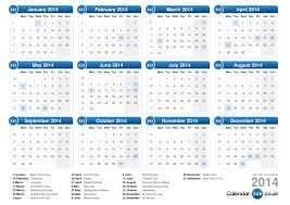 calendar 2014 printable with bank holidays