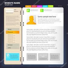 Design Site by Web Site Design Template U2014 Stock Vector Tumanyan 4239186