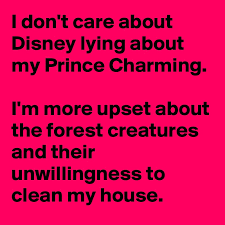 Clean My House I Don U0027t Care About Disney Lying About My Prince Charming I U0027m More
