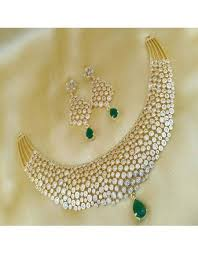 diamond necklace set images Shop divike golden white diamond necklace set richkart in jpg
