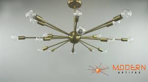 Sputnik Light Fixture by Vintage Brass Lamp 34