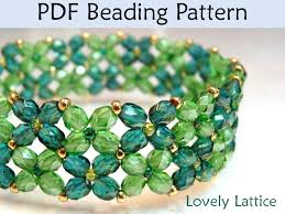 beads bracelet tutorials images Simplebeadpatterns beading pattern learning digital tutorials 37263