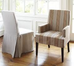 Pottery Barn Slip Cover Napa Chair Slipcovers Potterybarn The Striped Chairs Would Be