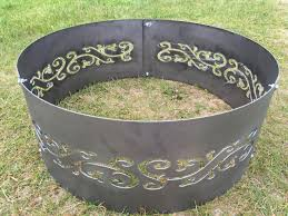 custom fire rings images Custom fire pit rings interior sauriobee custom metal fire pit jpg