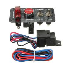 12 volt push button light switch ignition switch panel led toggle engine start push button racing 12v
