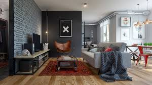 Bedroom Apartment Decor Apartment Modern 1 Bedroom Apartment With Gray Domination And