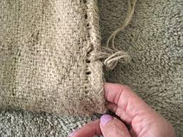pin it do it make a burlap rug