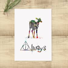 aliexpress com buy harry potter always art print deer poster