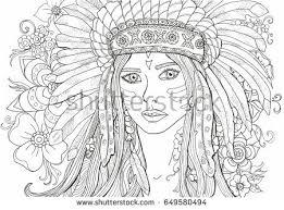 vector coloring book adults beautiful stock vector 600639836