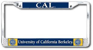 uc berkeley alumni license plate of california berkeley dome on chrome license plate