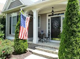 welcome to our front porch memorial day decor
