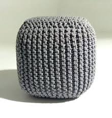 Ottoman Knitted Knit Pouf Ottoman Dynamicpeople Club