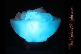 Himalayan Salt Lamp Limited Edition U2013 Glacier Bowl Blue Lamp Salt Sculpture U2013 The