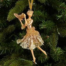 buy lewis into the woods golden ballerina tree decoration