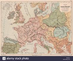 Old Europe Map by Map Europe Charlemagne Stock Photos U0026 Map Europe Charlemagne Stock