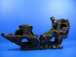 sunken ship wreck 43x10x19 5cm aquarium ornament decor boat
