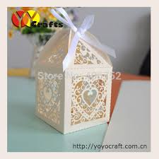 wedding favor boxes wholesale 50pcs lot heart shape laser candy wedding favor box