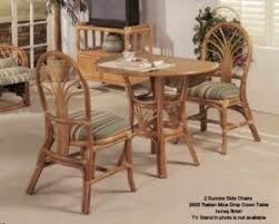 Dining Room Wicker Chairs Indoor Rattan Wicker Dining Room Furniture Sets
