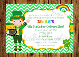 printable st patrick u0027s day party invitations and accessories