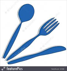 knife fork and spoon illustration