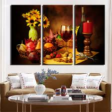 popular wine wall art buy cheap wine wall art lots from china wine wall art canvas oil painting wine cup flower wine decoration canvas painting home decor canvas wall