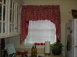 Kitchen Valances And Tiers by Kitchen Tier Curtains Balloon Valance Red And Black Curtains