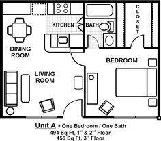 500 Sq Ft Floor Plans Download Small 1 Bedroom Apartment Floor Plans Home Intercine